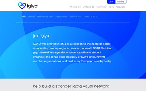Screenshot of Signup Page iglyo.com - Join - IGLYO - captured Dec. 19, 2015