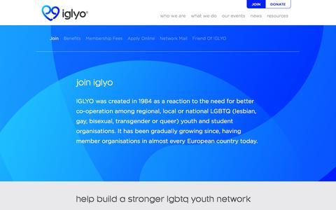 Screenshot of Signup Page iglyo.com - Join - IGLYO - captured Dec. 19, 2015