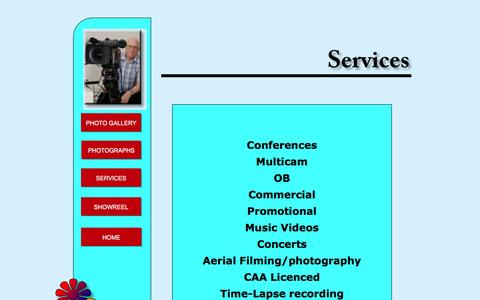 Screenshot of Services Page psilver.com - Services - captured May 23, 2016