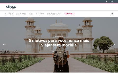 Screenshot of Blog allbags.com.br - Home - Blog - Allbags - captured Nov. 11, 2018