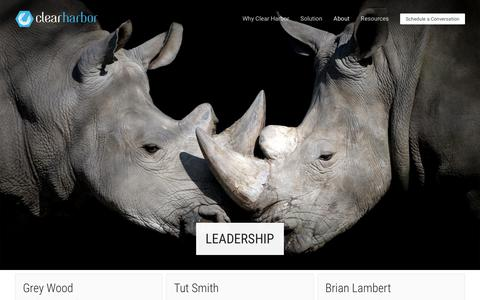 Screenshot of Team Page clearharbor.com - Leadership | Clear Harbor - captured July 18, 2018