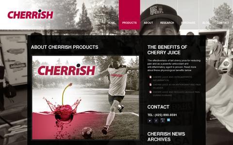 Screenshot of Products Page cherrish.net - CHERRiSH Products  |  CHERRiSH - captured July 19, 2014
