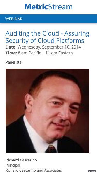 WEBINAR: Auditing the Cloud - Assuring Security of Cloud Platforms