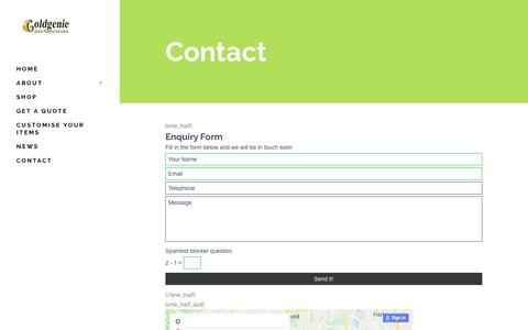Screenshot of Contact Page goldplating.co.uk - Contact – Gold Plating - captured Feb. 16, 2018