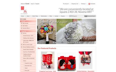 Screenshot of Home Page shuangxile.com - Singapore Chinese Wedding Shop, Wedding Decorations - Shuang Xi Le Wedding - captured Oct. 24, 2018
