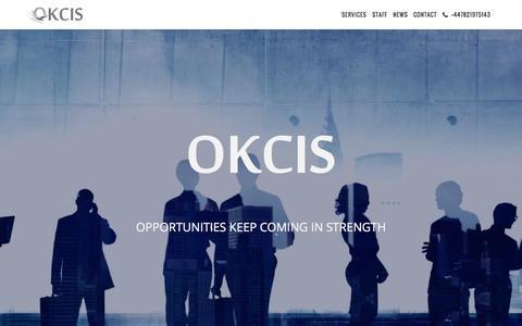 Screenshot of Home Page okcis.info - OKCIS - Aviation, Marketing & Events Russia, CIS - captured Sept. 5, 2015