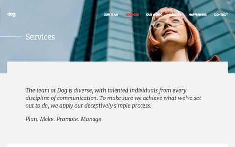 Screenshot of Services Page dogdigital.com - Digital Marketing Services | Full Service Agency - Dog Digital - captured Sept. 21, 2019