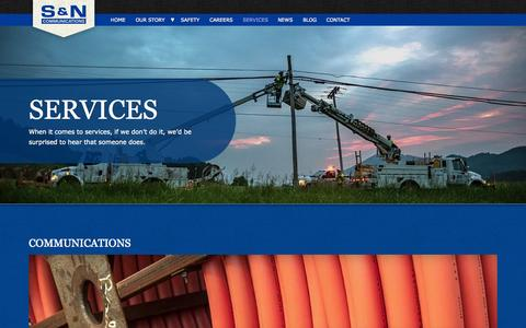 Screenshot of Services Page sncomm.com - Services | S&N Communications - captured Oct. 3, 2014