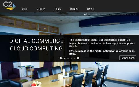 Screenshot of Home Page competitive.com - Digital Technology Solutions for Competitive Advantage | C2 - captured Oct. 2, 2014
