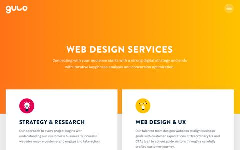 Screenshot of Services Page gulosolutions.com - Web Design Chicago | Digital Agency Chicago | Gulo Solutions - captured Dec. 8, 2018