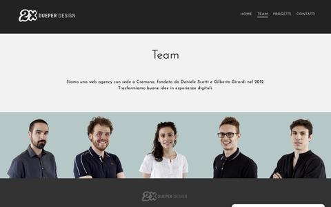 Screenshot of Team Page dueper.net - Team • Dueper Design - captured Nov. 22, 2018