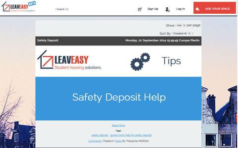 Screenshot of Blog leaveasy.com - Sublet guide Leaveasy - captured Sept. 29, 2014