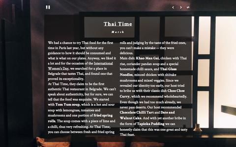 Screenshot of Home Page piggyncat.com - Thai Time · Piggy and Cat - captured Oct. 2, 2014