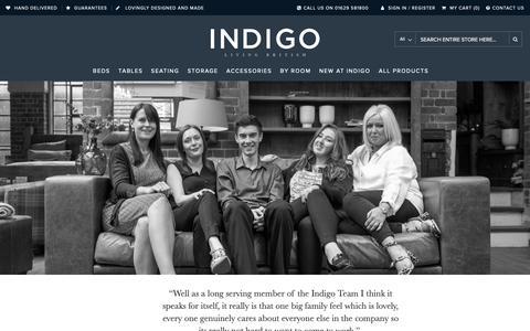Screenshot of Jobs Page indigofurniture.co.uk - Indigo Careers - About Us - captured Nov. 6, 2018