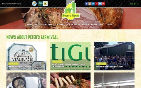 Screenshot of Press Page petersfarm.com - News - captured May 16, 2017