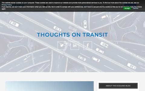 Screenshot of Blog ecolane.com - Thoughts on Transit - An Ecolane Blog - captured Sept. 16, 2018