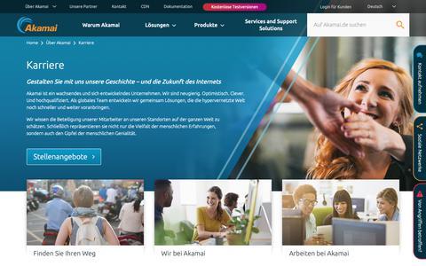 Screenshot of Jobs Page akamai.com - Stellenangebote bei Akamai | Akamai - captured Nov. 9, 2018