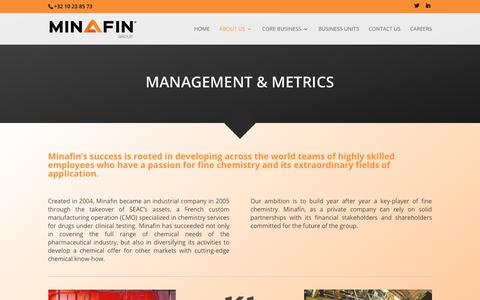 Screenshot of Team Page minafin.com - Management & Metrics - Minafin Group - captured Sept. 21, 2017