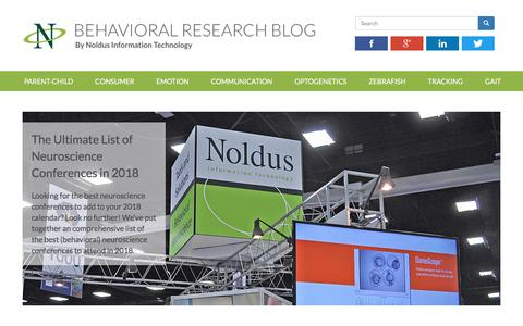 Screenshot of Blog noldus.com - Behavioral research blog - captured Oct. 23, 2017