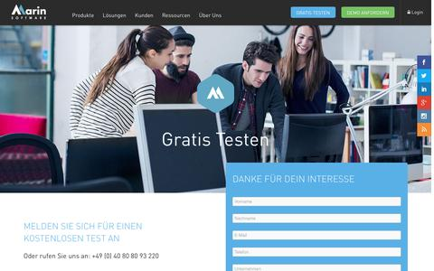 Screenshot of Trial Page marinsoftware.de - Free Trial | Marin Software - captured Feb. 4, 2016