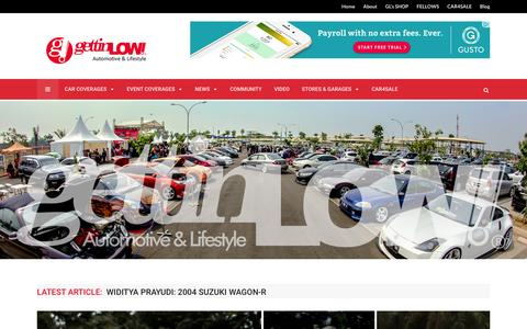 Screenshot of Home Page gettinlow.com - GETTINLOW | AUTOMOTIVE & LIFESTYLE, MAJALAH ONLINE TREND MODIFIKASI INDONESIA - captured Feb. 19, 2016