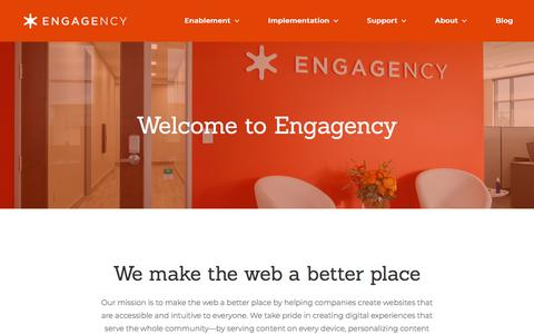 Screenshot of Jobs Page engagency.com - Careers at Engagency - captured Aug. 8, 2019