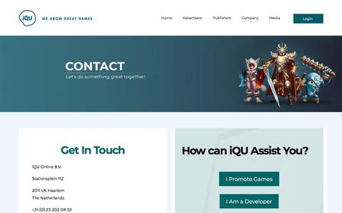 Screenshot of Contact Page iqu.com - Contact | iQU - captured Sept. 20, 2018