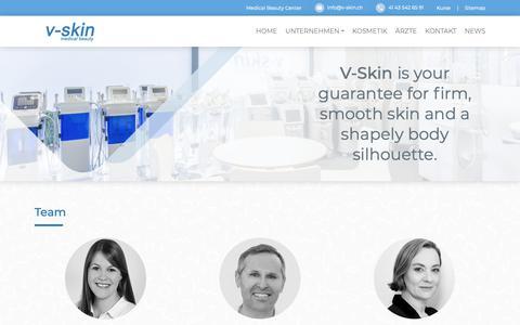 Screenshot of Team Page v-skin.ch - Medical Beauty: Innovative Geräte für Mediziner & Nichtmediziner - captured Nov. 18, 2018