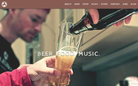 Screenshot of About Page bruesalehouse.com - About | Brues Alehouse Brewing Co. - captured Sept. 24, 2015