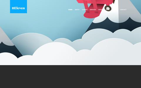 Screenshot of Home Page 11elevendc.com - 11ElevenDC | Design and Marketing Agency, Bristol - captured Sept. 21, 2018