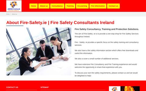 Screenshot of About Page fire-safety.ie - About Us   Fire-Safety.ie - captured Oct. 10, 2018