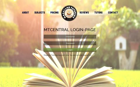 Screenshot of Login Page magellantutoring.com - Login : Magellan Tutoring - captured Oct. 3, 2014