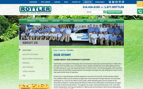 Screenshot of About Page rottler.com - Rottler's Story  | St. Louis Pest Control And Lawn Care Experts - captured Sept. 24, 2014
