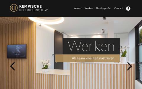 Screenshot of Home Page k-i.be - Uw interieur is onze specialiteit   Kempische Interieurbouw - captured Oct. 15, 2018