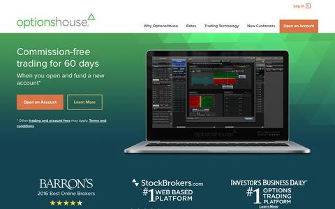 Online Trading for Stock, Options and Futures | OptionsHouse