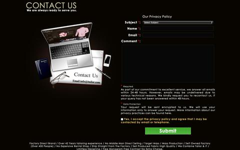 Screenshot of Contact Page itailor.com - Contact Us | iTailor.com - captured April 22, 2019