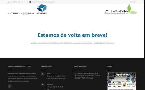 Screenshot of Home Page internacional-area.com - Grupo Internacional �rea - captured June 8, 2016