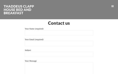 Screenshot of Contact Page clapphouse.com - Contact us - captured June 23, 2016
