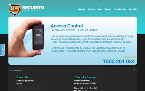 Screenshot of Contact Page jssecurity.com.au - Contact JS Security Concepts Pty Ltd - captured Feb. 11, 2016