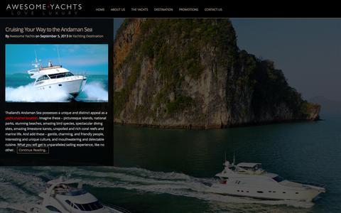 Screenshot of Blog awesomeyachts.com - Blog | Awesome Yachts - captured Sept. 30, 2014