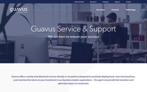 Screenshot of Support Page guavus.com - Guavus customer support - captured Jan. 30, 2019