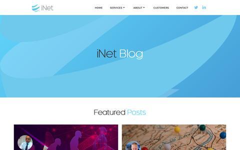 Screenshot of Blog inetplc.com - Blog - captured Oct. 13, 2018