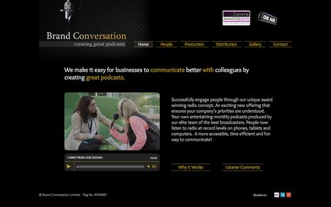 Screenshot of Home Page brand-conversation.co.uk - Brand Conversation - captured July 29, 2016