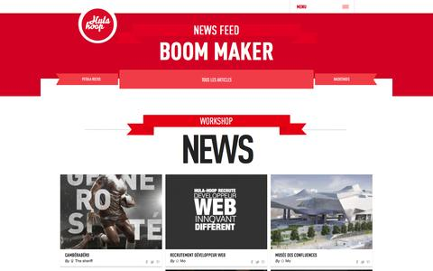 Screenshot of Press Page hula-hoop.fr - Agence communication Lyon - articles - captured Sept. 19, 2014