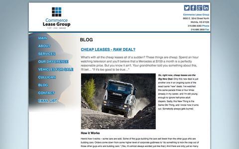 Screenshot of Blog commerceleasegroup.com - Blog - captured Oct. 28, 2014