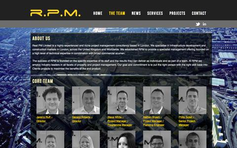 Screenshot of About Page realpm.co.uk - The Team | RPM - captured Dec. 7, 2015