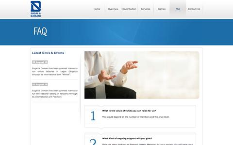 Screenshot of FAQ Page sugaldamani.co.uk - Sugal and Damani - captured Oct. 9, 2014