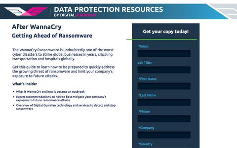 After WannaCry - Getting Ahead of Ransomware