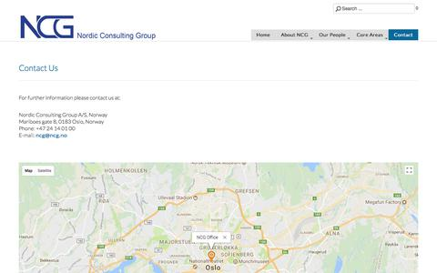 Screenshot of Contact Page ncg.no - Contact - captured Oct. 22, 2017