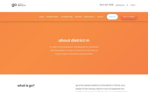 Screenshot of About Page districtm.net - About district m   go by district m - captured Oct. 18, 2018